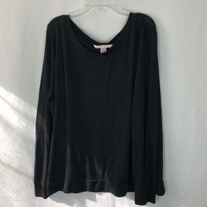 Victoria's Secret black long sleeve pajama top